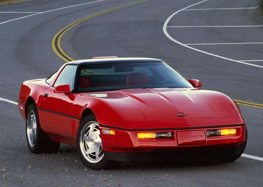 A red 1990 Chevrolet Corvette ZR1