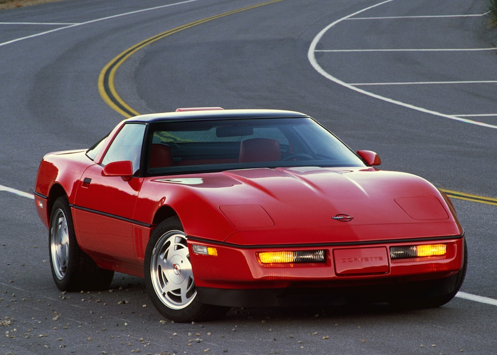 A red 1990 Chevrolet Corvette ZR1