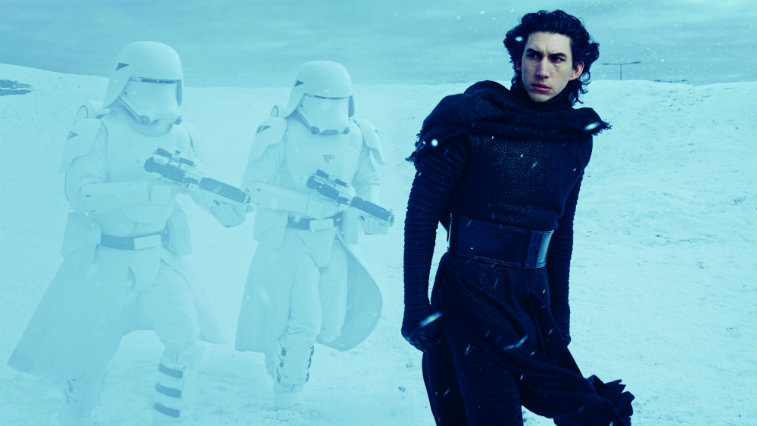Adam Driver in 'Star Wars: The Force Awakens'
