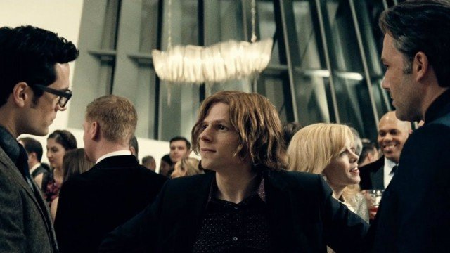 Henry Cavill, Jesse Eisenberg and Ben Affleck in 'Batman V Superman: Dawn of Justice'