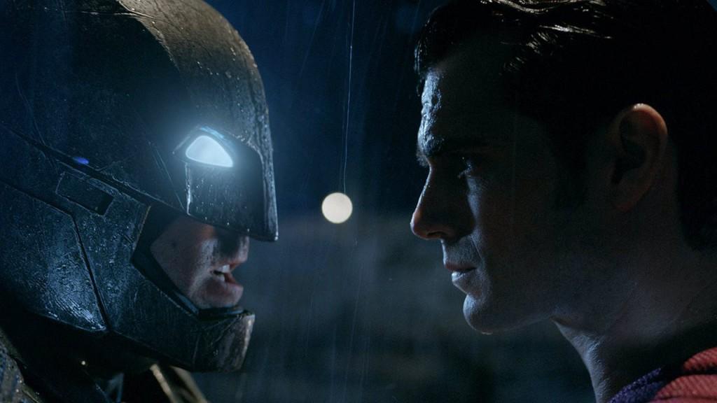 Batman faces off against Superman in Batman v Superman: Dawn of Justice