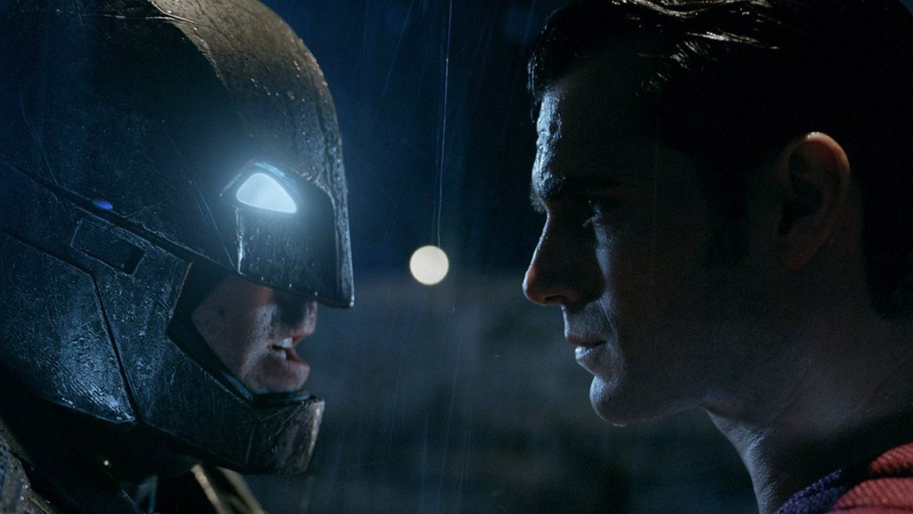 Batman faces off against Superman in Batman v Superman: Dawn of Justice