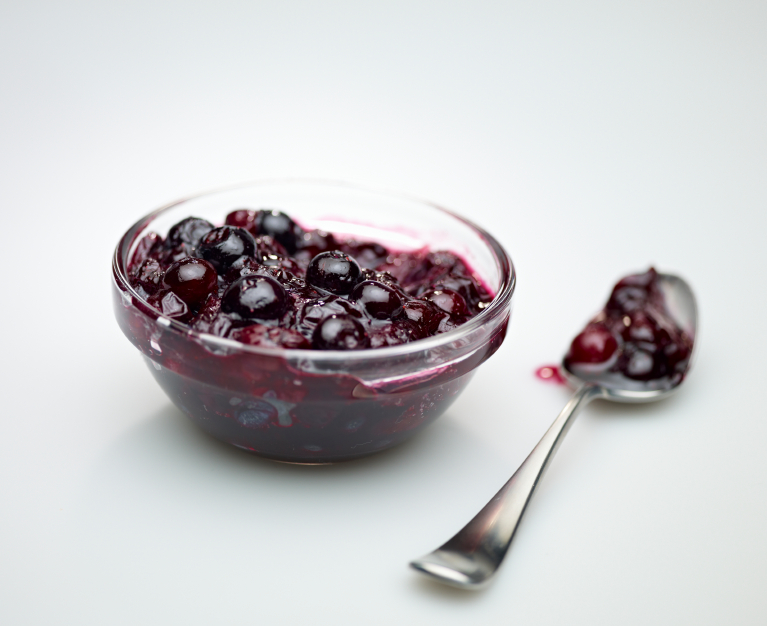 blueberry sauce, compote