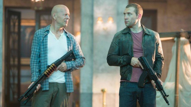 Bruce Willis and Jai Courtney in 'A Good Day to Die Hard'
