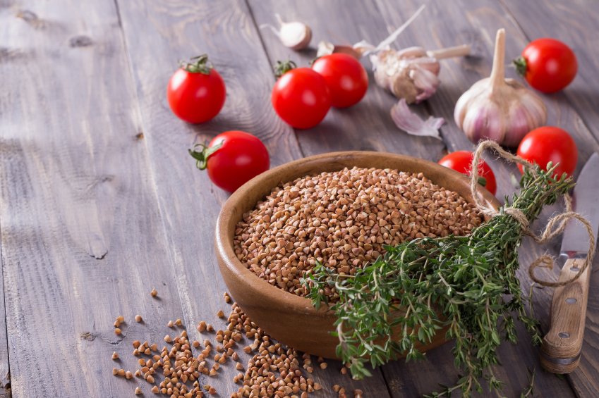 buckwheat and tomatoes