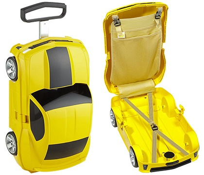 Camaro ZL1 kids yellow carry-on case