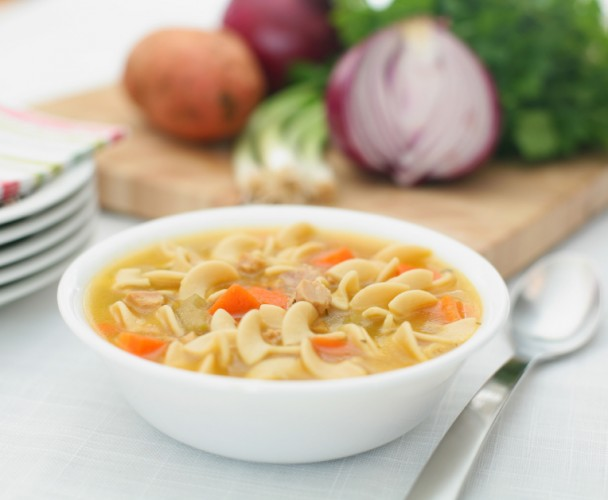 Amazing soups to try if youre tired of chicken noodle chicken noodle soup in a bowl forumfinder Images