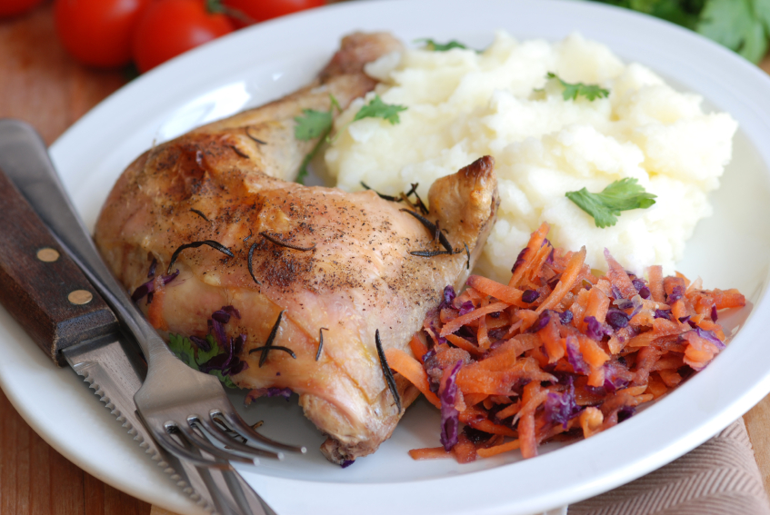 chicken and mashed potatoes