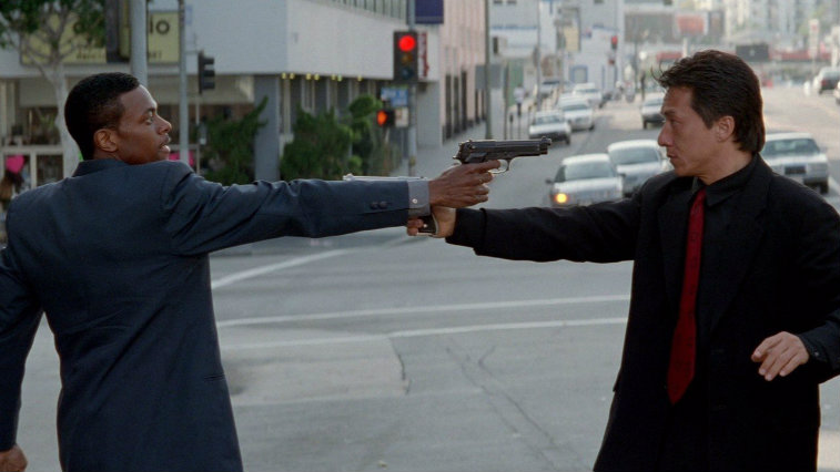 Chris Tucker and Jackie Chan in 'Rush Hour'