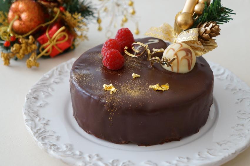 chocolate cake, Christmas
