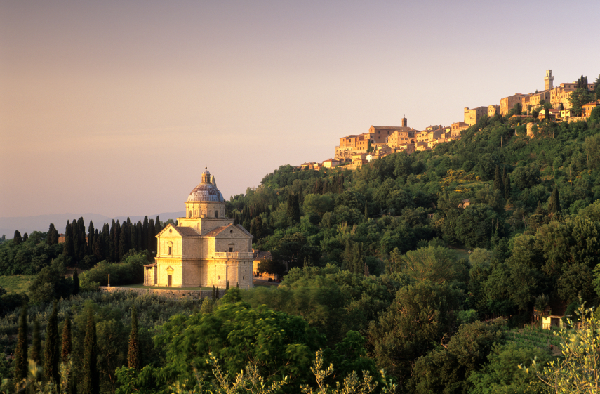 Church of Madonna di San Biagio in Montepluciano, Italy