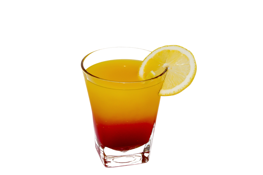 orange cocktail with vodka and grenadine