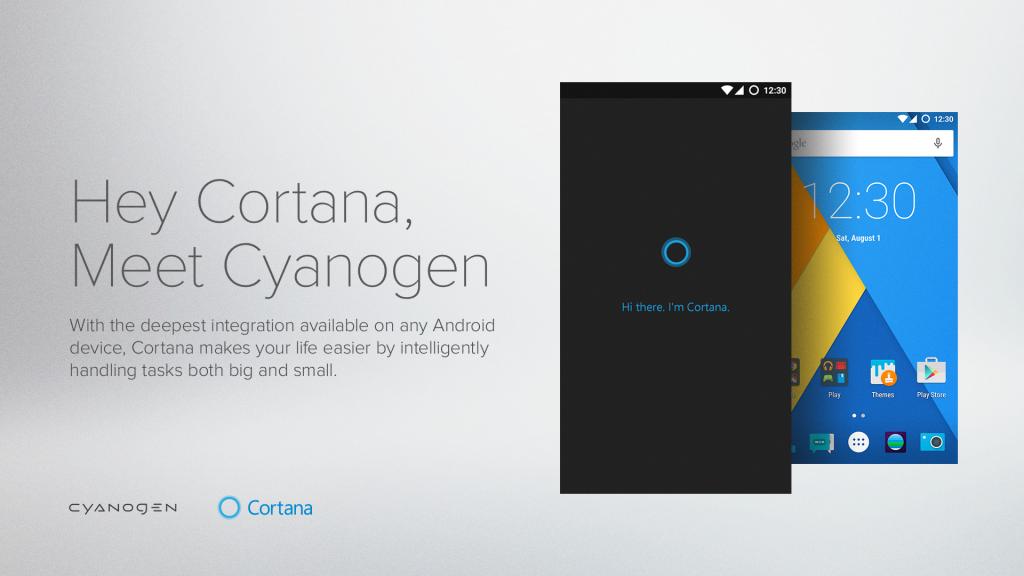 Cortana on Cyanogen OS