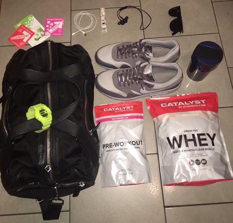 Courtney Paul gym bag