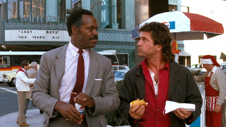 Danny Glover and Mel Gibson in 'Lethal Weapon'
