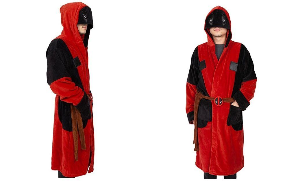 Marvel Deadpool Adult Hooded Terry Robe