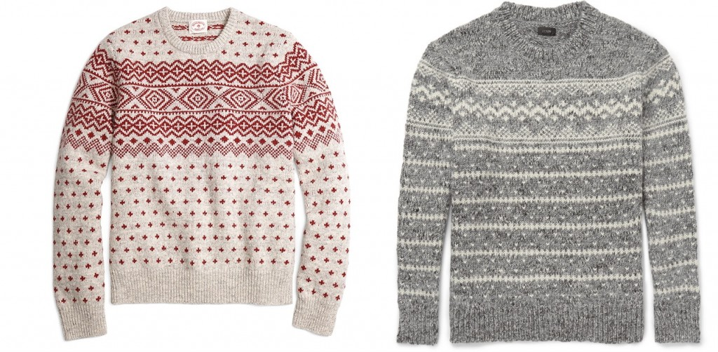 Fair Isle sweaters for holiday parties