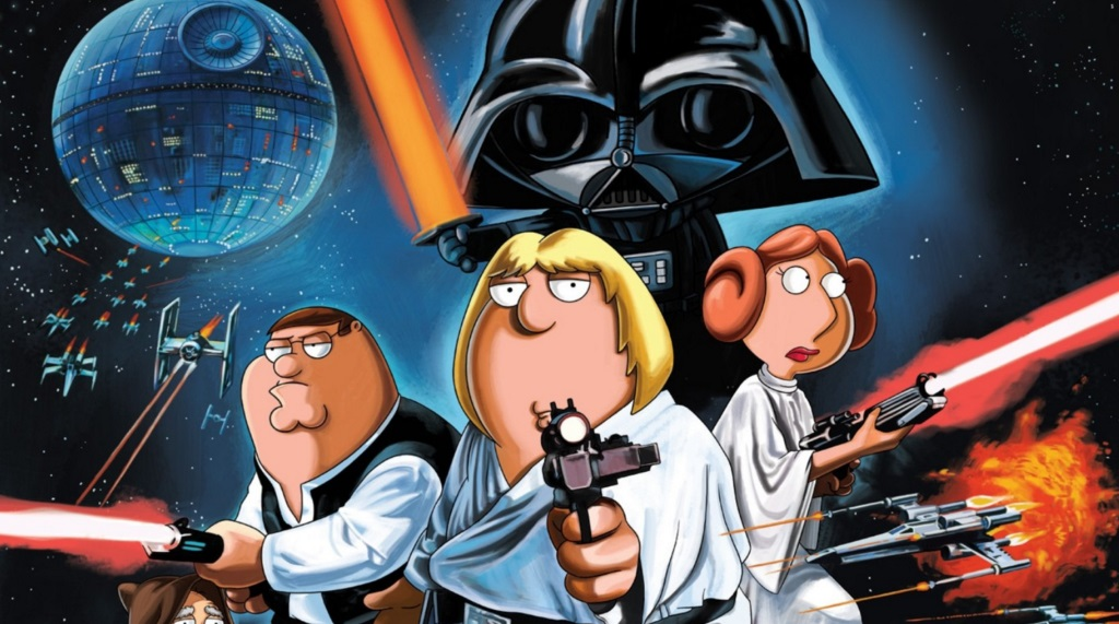 The Family Guy family posing as Star Wars characters