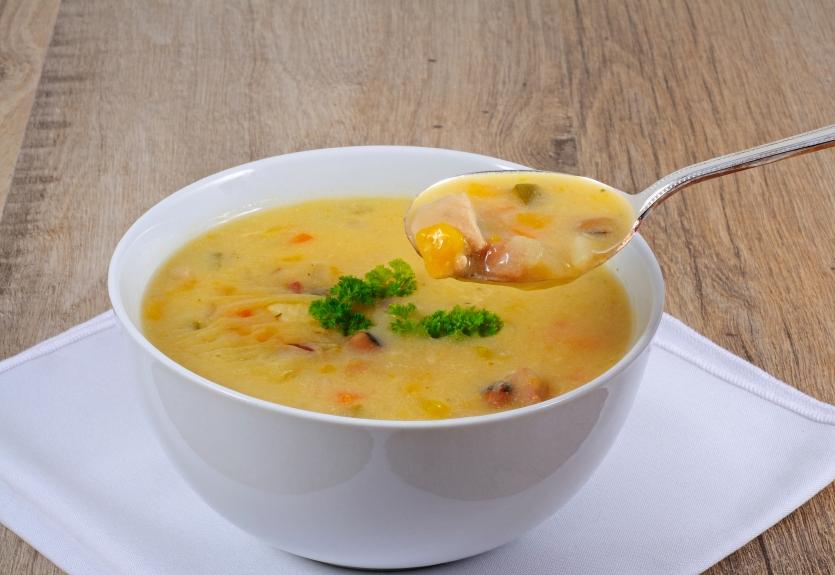 fish chowder in a bowl