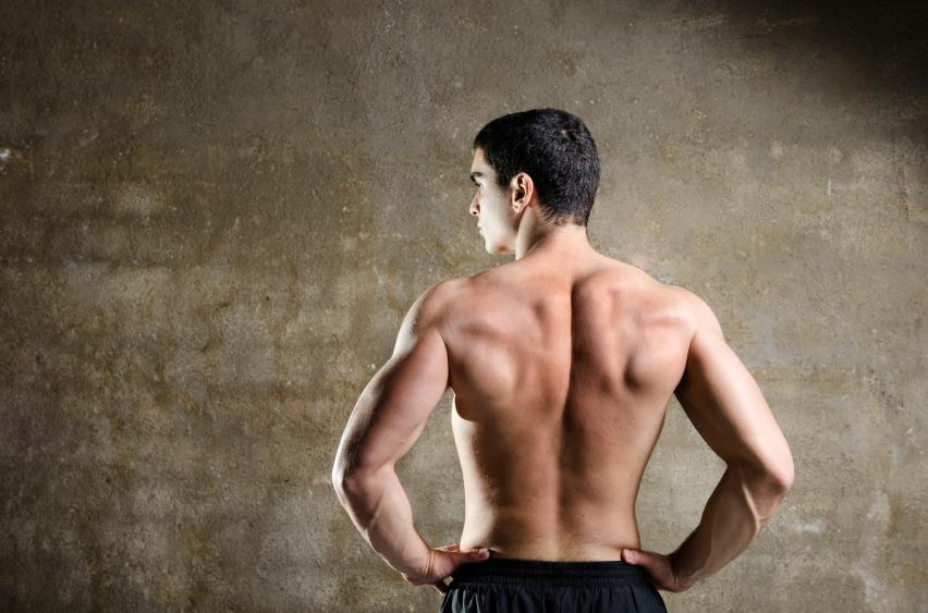 A man who has no back fat