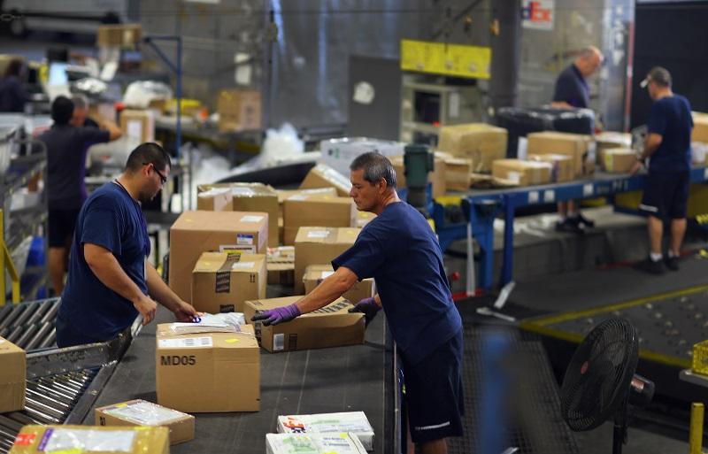 fed ex package sorters