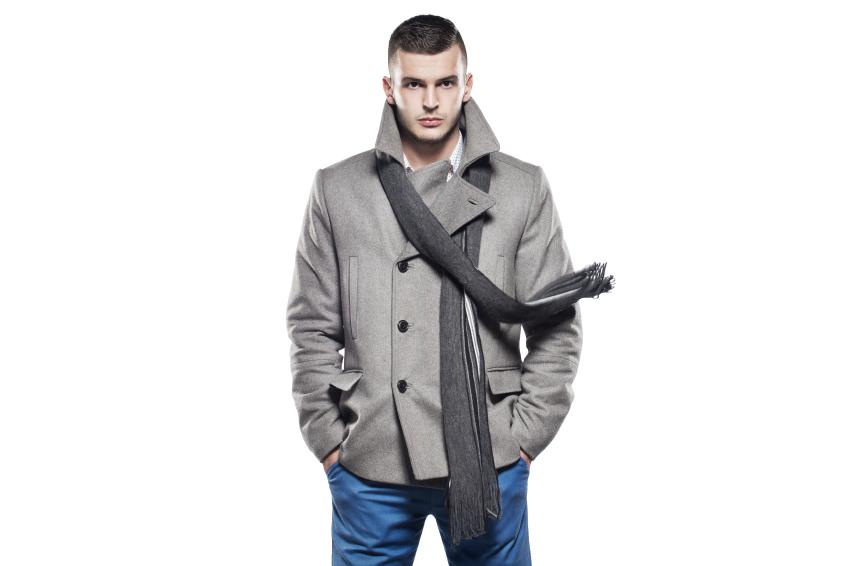 winter jacket, scarf