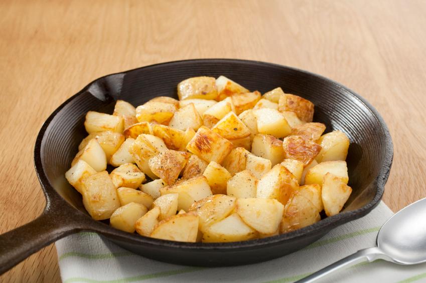 home fries, breakfast potatoes, skillet