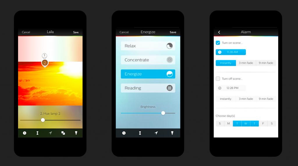 Hue smart lighting companion app