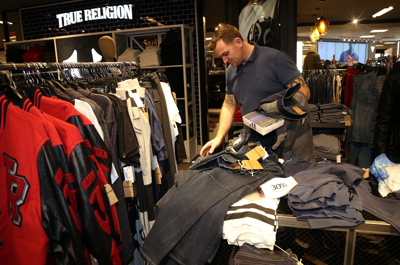 A man shopping at a department store
