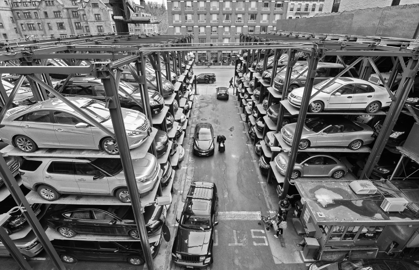 Robot parking the rise of the new automated parking garage for Parking garage in nyc