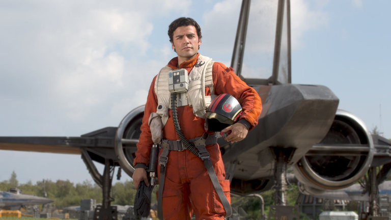 Poe Dameron in Star Wars Episode VII The Force Awakens
