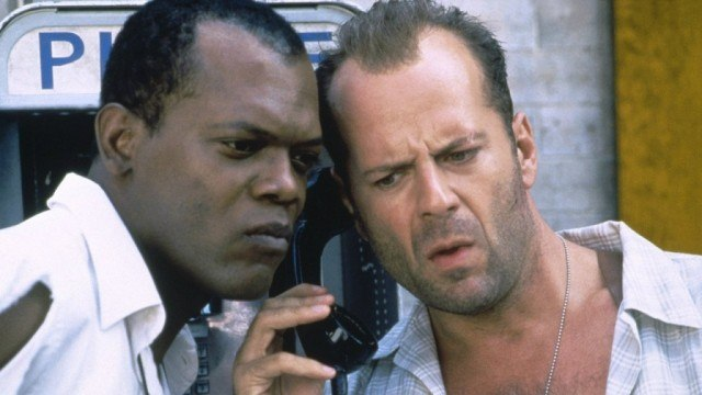 Samuel L. Jackson and Bruce Willis in 'Die Hard: With a Vengeance'