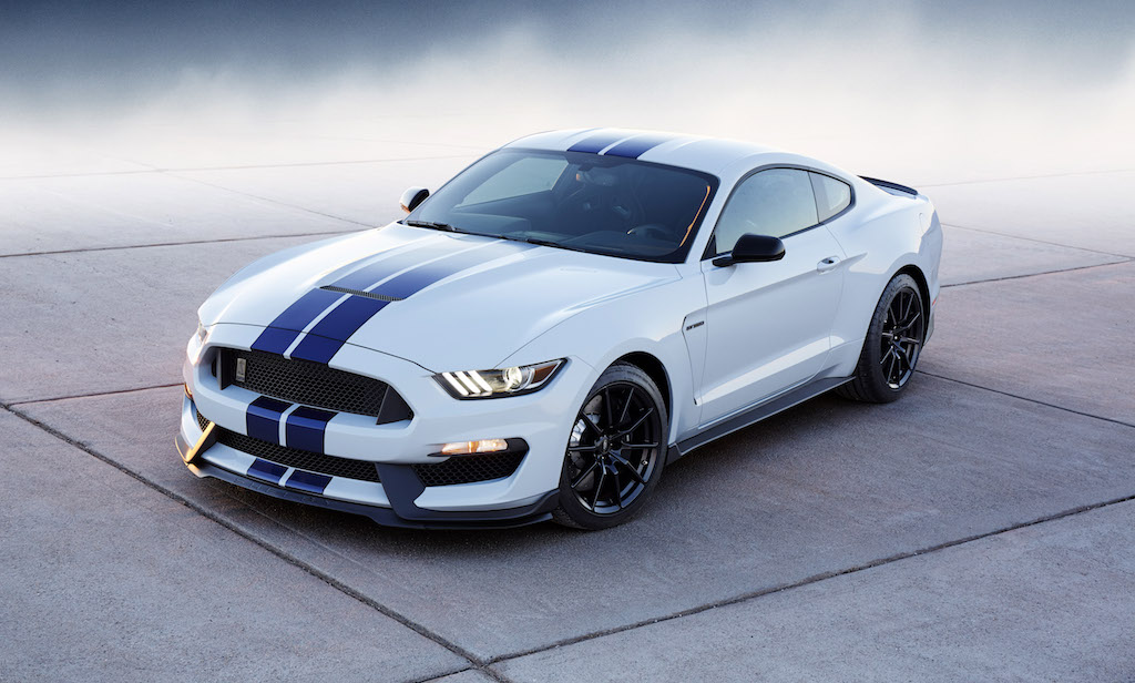 The Mustang Shelby GT350 benefits from sharp styling and a flat-plane crank loaded V8 that generates tons of power without the assistance of a supercharger | Source: Ford