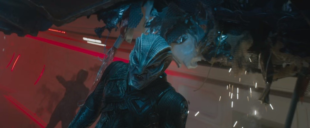 Idris Elba as an alien in Star Trek Beyond.