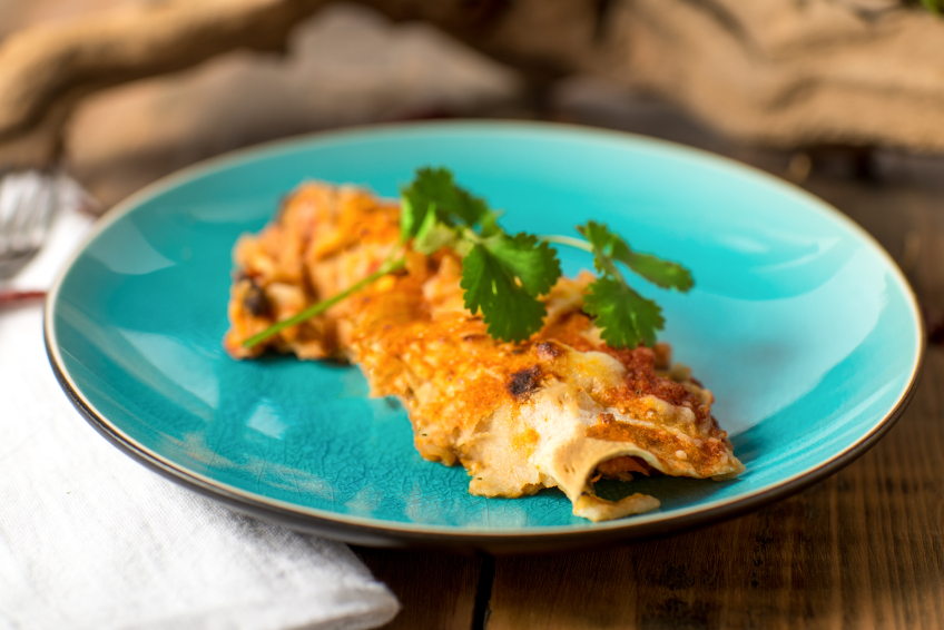 Enchilada on a plate