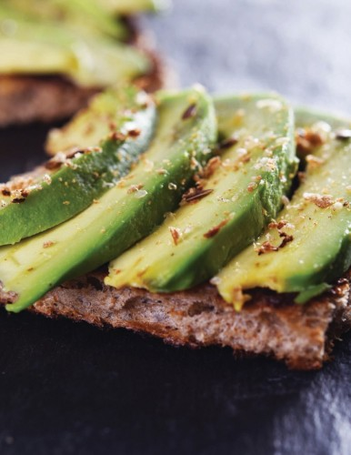 Jorge Cruise's Hummus Avocado toast with pink Himalayan Salt