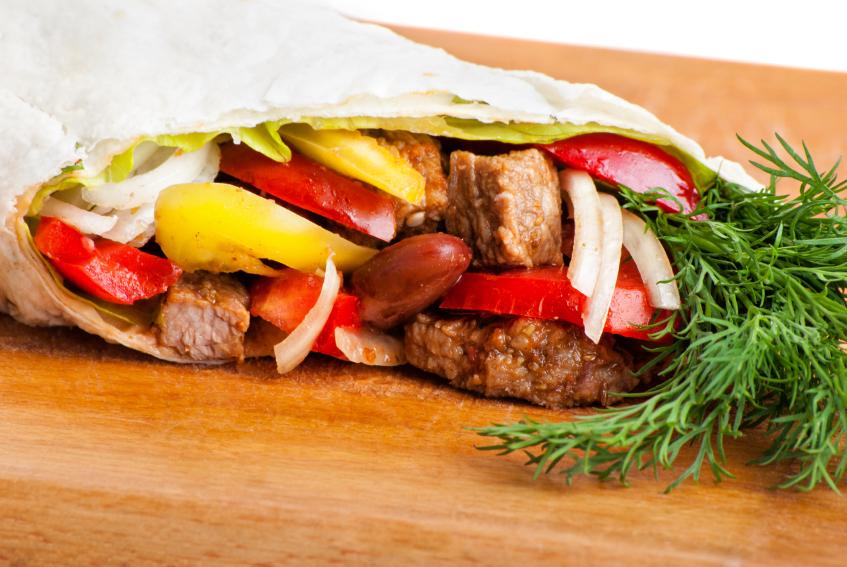 Beef fajita, peppers, onion and tomato