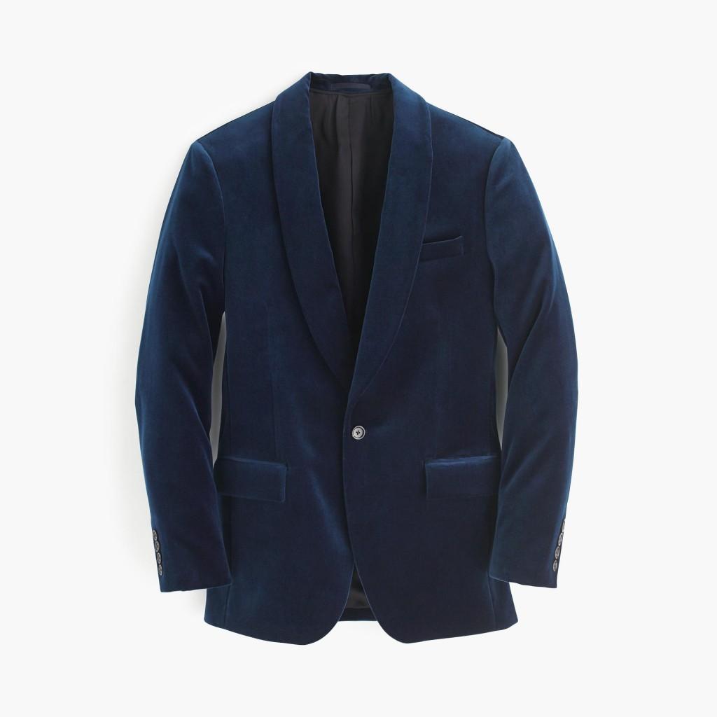 Blue velvet J. Crew men's jacket