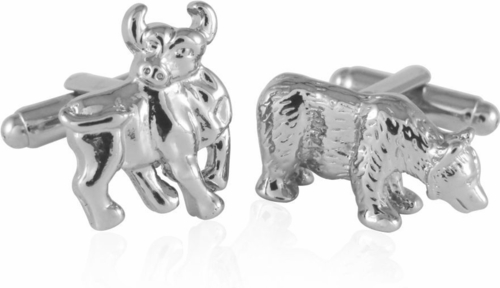bull and bear cuff links