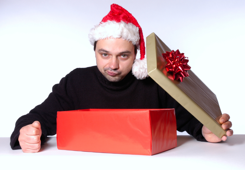 Man disappointed with his present