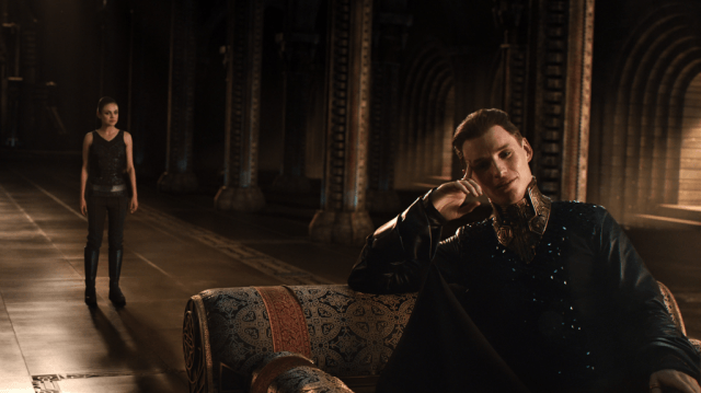 Mila Kunis and Eddie Redmayne in 'Jupiter Ascending'