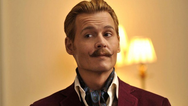 Johnny Depp in 'Mordecai,' one of 2015's biggest box office failures.