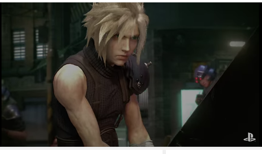 Cloud in 'Final Fantasy VII Remake'