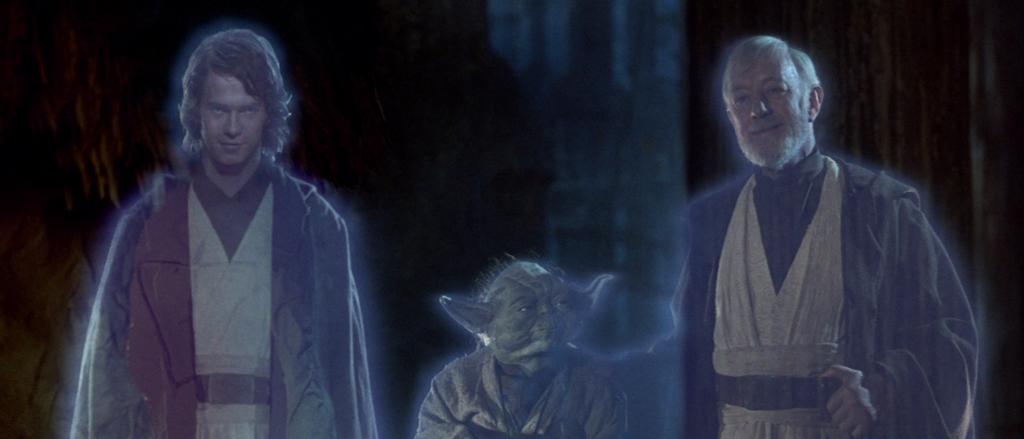 Anakin, Yoda, and Obi Wan Kenobi - Star Wars: Return of the Jedi