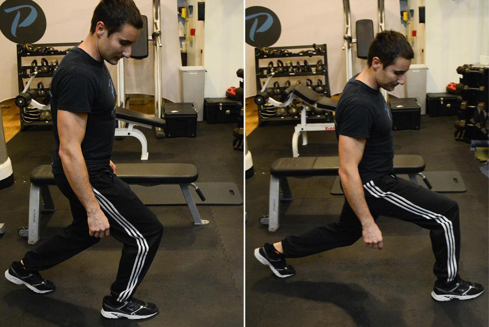 Giacomo Barbieri demonstrating lunges