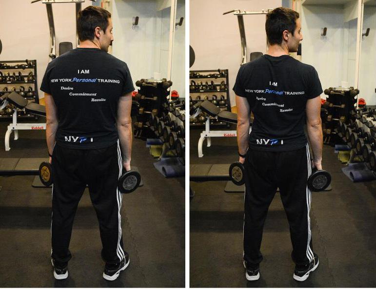 Giacomo Barbieri demonstrating standing arm lifts
