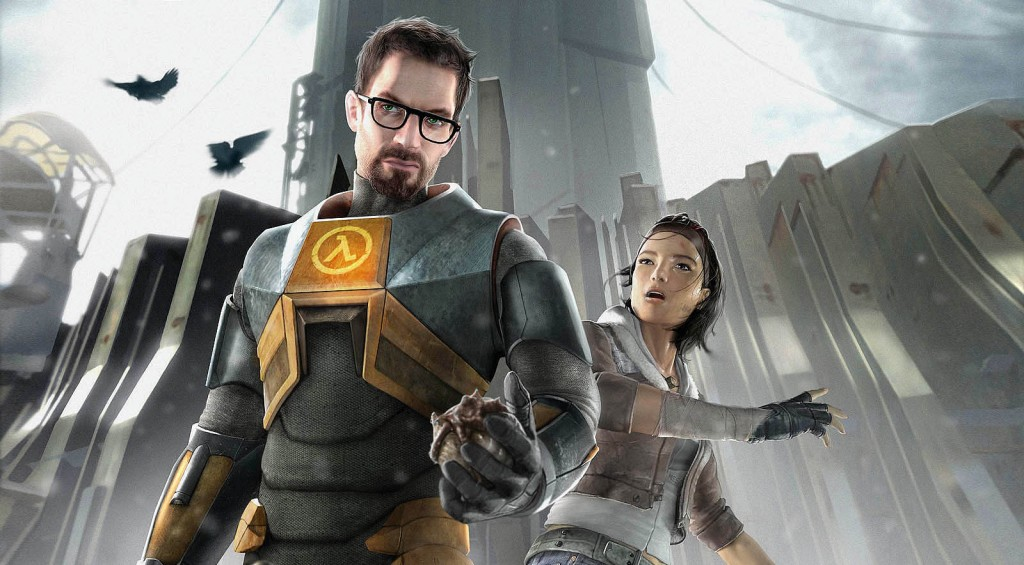 Gordon and Alex living it up in Half-Life.