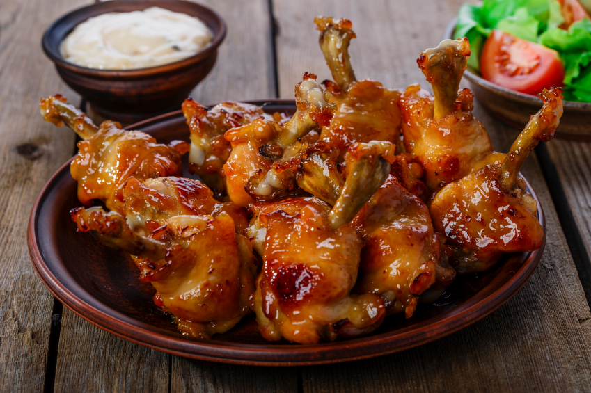 Roasted chicken wings