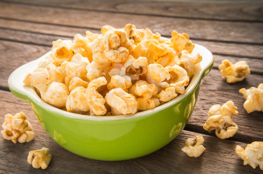 Popcorn in bowl