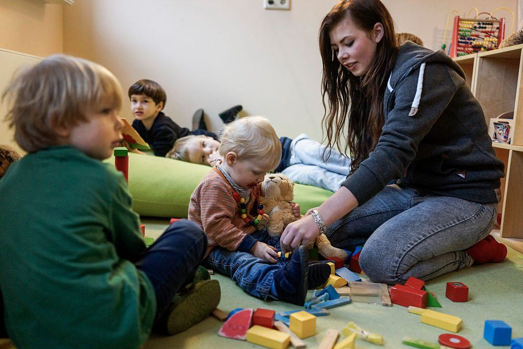 kids at a day care center